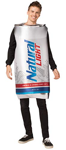 Rasta Imposta Natural Light Beer Can Costume, Adult One Size White