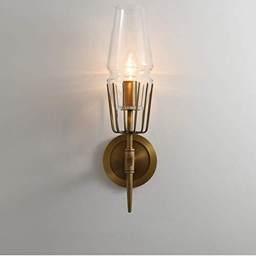 Beautiful Home Lighting / 2-light postmodern Edison LED wandlampen aluminium glas lantaarn decoratieve lampen nachtwandlamp fixture voor badkamer kaptafel spiegelkast wastafel woonkamer