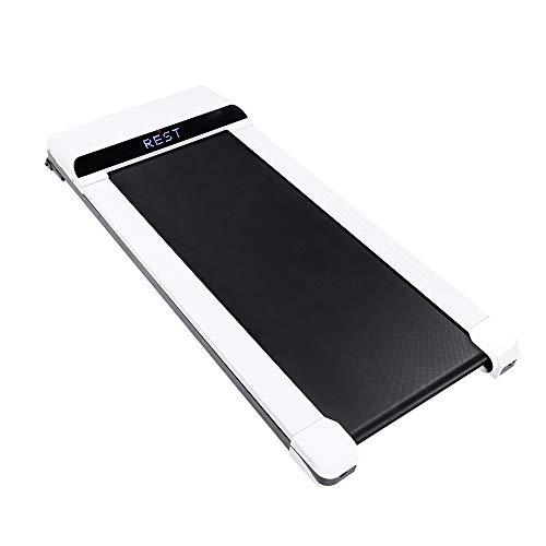UMAY Portable Treadmill, Under Desk Walking Pad Flat Slim Treadmill (Black)