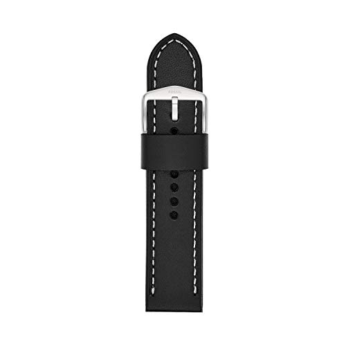 Fossil 22mm Leather Watch Band Color: Black (Model S221254)