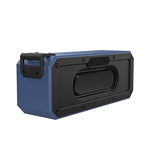 Yi-xirfashion Design 40W High Power Outdoor Raincoat Radio Bluetooth Lautsprecher Subwoofer Tragbare DSP Soundkarte TWS Wireless Portable travel (Color : Blue, Size : 210 * 65 * 85mm)