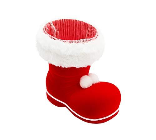 * Nikolausstiefel in vielen Größen und Farben zum Befüllen und als Deko | Weihnachtsmannstiefel Dekostiefel Adventsstiefel Weihnachtsstiefel | winzig bis riesengroß (S | 2 x roter Stiefel)