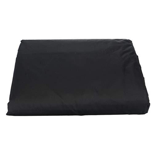 Monllack Cubierta de Polvo para Muebles, Muebles de jardín al Aire Libre Cubierta de sofá de Esquina Cubierta de Polvo para Muebles Cubierta de Mesa para Exteriores Fibra de poliéster Negra