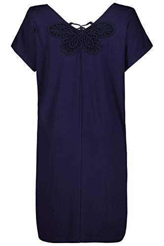 Ulla Popken Damen große Größen Nachthemd Nachtblau 54/56 724883 76-54+