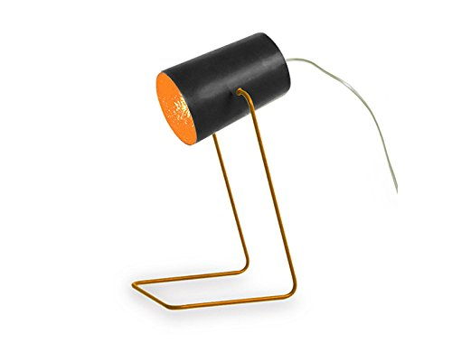 In-es.artdesign IN-ES060014N-A Paint T Lavagna Lampe de Table Noir/Orange