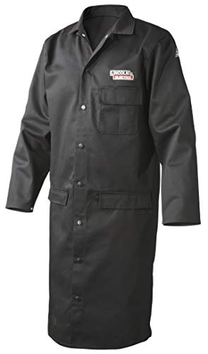 "Lincoln Electric Welding Lab Coat | Premium Flame Resistant (FR) Cotton | 45"" Length 