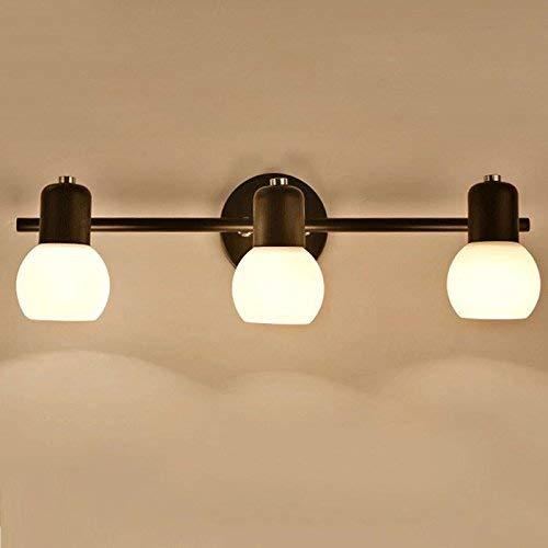 Witte glazen bol lampenkap 2-3 lampen badkamer eetbaarheid wandlamp verstelbare kop cabine stijl LED slaapkamer badkamer gang trap balkon spiegel koplamp wandlamp