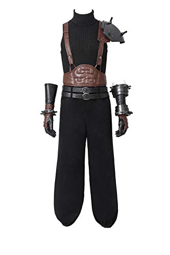 Men's Cloud Strife Cosplay Costume Final Fantasy Black Outfit
