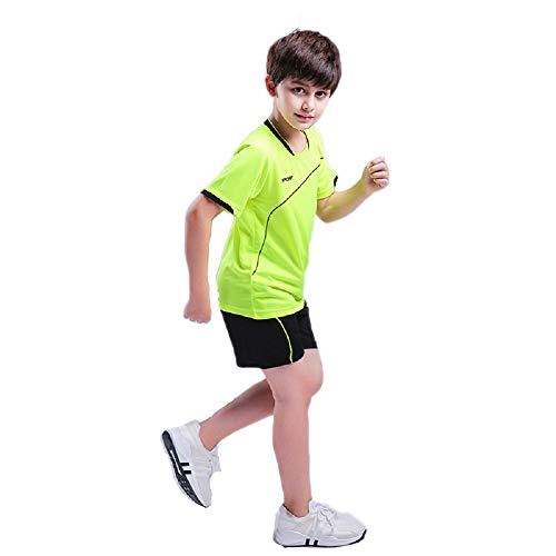Jungen Fussball Trikots Set Kind Team Training Wettbewerb Sportbekleidung - Kurze Ärmel T-Shirt & Shorts