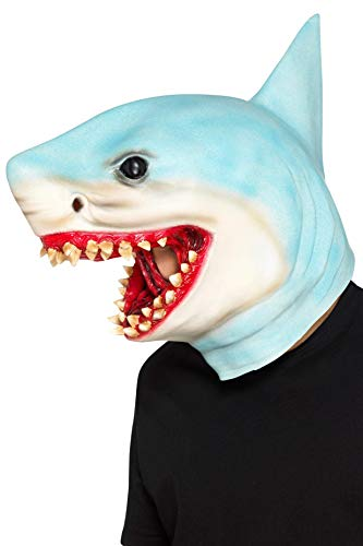 Smiffy's 48833 haai overhead masker, uniseks, blauw, één maat