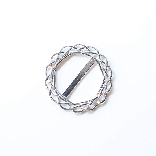 Handmade Large Round Pewter Scarf Ring – Metal Scarves Accessories for Women – Unique Gift Ideas for Wife