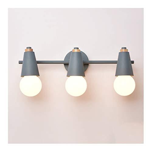 William 337 spiegellamp wandlamp - Nordic Color spiegellamp (smeedijzer E27 * 3) badkamer kaptafel garderobe werkkamer voor kinderen [energieklasse A +]