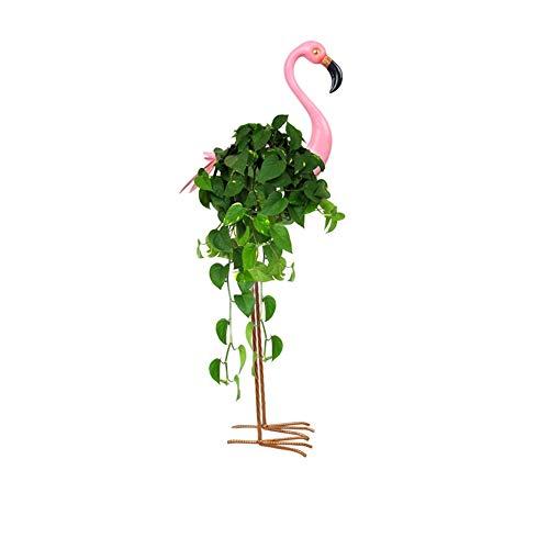 JYSD Flamingo support de pot de mariage décoration cadre plante stand présentoir intérieur présentoir forgé haute étagères cadeau (Size : B)
