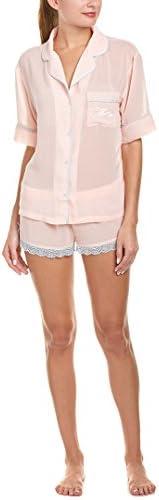 Honeydew Intimates Women s Chiffon and Lace Pj Set Blush Stripe Medium product image