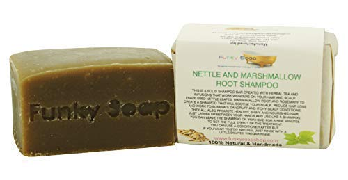 Funky Soap Marshmallow Racine Ortie Shampooing Barre Naturel et Fait Main 120g