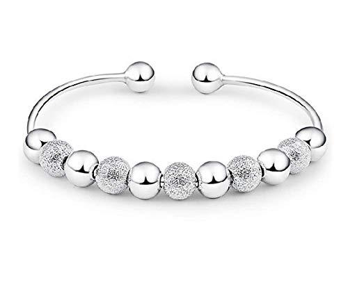 skyllc® Preciosa Pulsera de Joyeria de con Perlas, Pulsera de la Moda, Buena Suerte puño Abierto para Las Mujeres y Las niñas