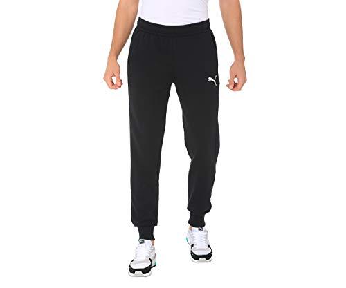 Puma Herren ESS Logo Pants TR cl Jogginghose, Black-Cat, L