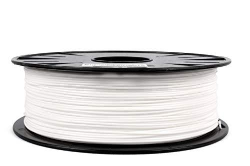 JANBEX - Filamento PLA da 1,75 mm, rotolo da 1 kg per stampante o penna 3D in confezione sottovuoto (bianco)