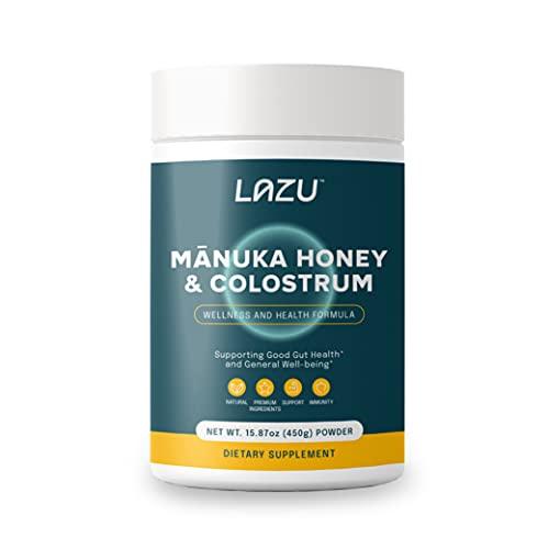 Lazu Manuka Honey and Colostrum Powder, Premium Bovine Colostrum (20...