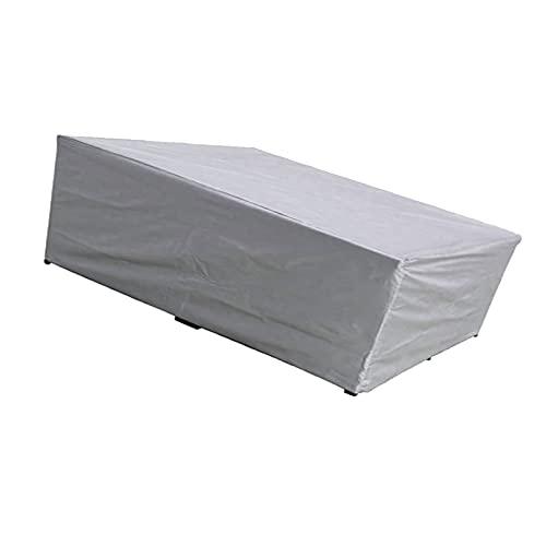 AWSAD Tavolo e Sedia da Esterno Coperture per Mobili da Giardino Anti-UV con Presa d'Aria per Giardino Terrazza Divano da Esterno Due Colori (Color : Silver, Size : 210x140x80cm)