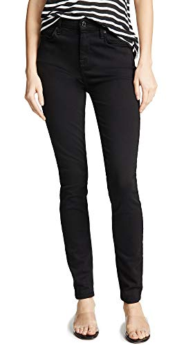 7 For All Mankind Womens Full Length Skinny Jeans, Luxe Black, 23