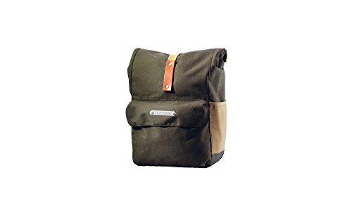 Brooks Norfolk Front Travel Fahrradtasche mit Rolle Top, Unisex, Green/Honey