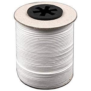 BIG-SAM - Zugschnur (weiß) für Jalousien - 5, 10, 25, 50 oder 100 Meter - Ø in diversen Größen - hohe Festigkeit, witterungsbeständig und beständig gegen Chemikalien - (Ø 3,2mm, 10 Meter)