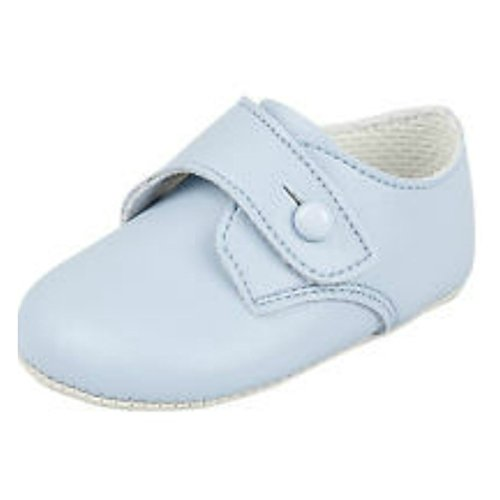BNIB Made in England baby boys Baypod first pram shoes in blue FREE UK POSTAGE (6-12 months)