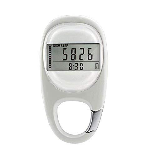 Podómetro digital 3D, contador de pasos sencillo con mosquetón, podómetro digital 3D, contador de pasos, contador de pasos LCD para hombres, mujeres y mascotas