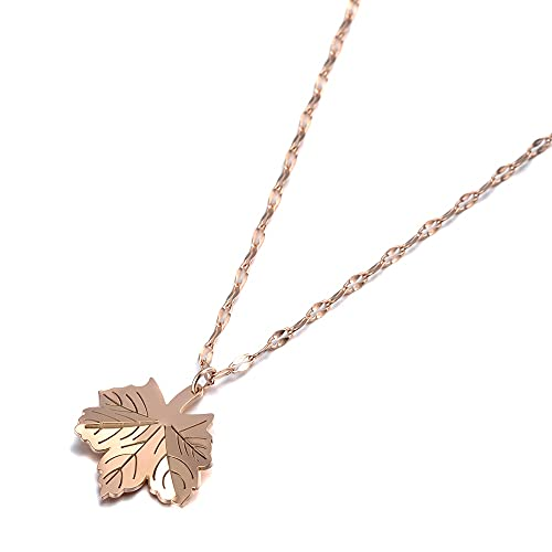 Lokaer Trendy Mosaic CZ Crystal Maple Leaf Collares pendientes para mujeres Titanio Acero inoxidable Gargantilla Collar Joyería N19143
