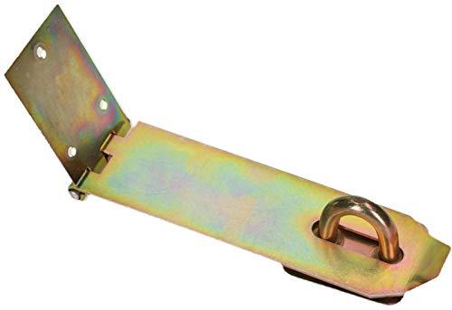 KOTARBAU® Überfalle 3 Verschiedene Größen Gelb Verzinkt Überlaufscharniere Torband Überwurf Absicherung Türschloss Panzerriegel Sicherheitsüberfalle (170 mm)