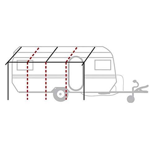 BERGER Basisgerüst Zermatt Stahl Ø 25mm Vorzeltgestänge Erweiterung Stahlrohr Gestänge Vorzelt Zelt