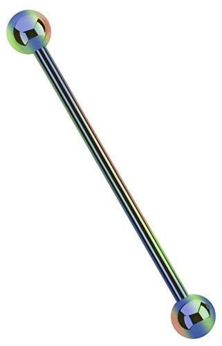 Industrial, Intim, Ohr Piercing 316L Stahl Stab 1,6 x 38 mm verlaufend