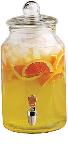 Circleware Mason Jar Beverage Dispenser and Glass Lid, New Fun Party Entertainment Home & Kitchen...