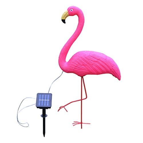 OSALADI 1 Pc Luces de Flamenco Luz de Estaca de Jardín de Animales con Energía Solar Led Flamingo Figuras de Exterior Decoración para Camino de Patio Camino de Patio