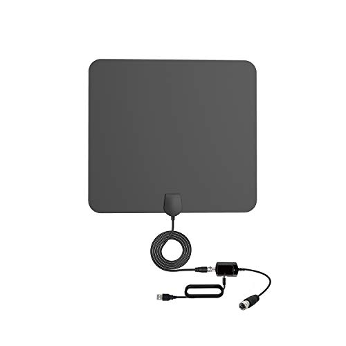 Sukses TV Antenna Indoor HDTV Digital Antenna 60 to 160.9 km Range with Detachable Amplifier Signal Booster and 16.5 feet coaxial Cable for 4 K 1080P Free TV - -2019 New Version
