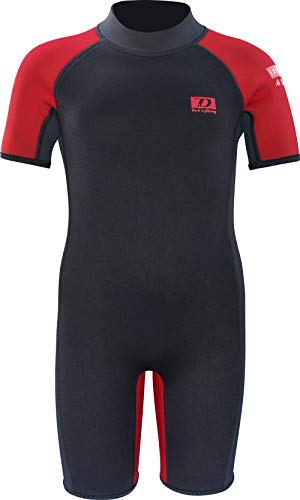 Dark Lightning Kids Wetsuit for Boys and Girls, 3mm Shorty Neoprene Thermal Swimsuit, Wet Suits Size 1–14 Cover Infant/Baby/Toddler/Junior/Youth
