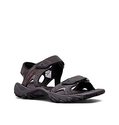 Columbia Men's SANTIAM 2 Strap Sport Sandal, Dark Grey, Rusty, 10 Regular US