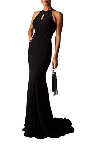 Mascara schwarz mc181359g Spitze Bestickt Neckholder Kleid