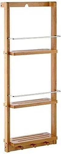 descuento de ventas Estante de baño genérico, con estantes L-M y riel, estantes estantes estantes y baño de Parojo, bambú, Ganchos, bambú,  tiendas minoristas