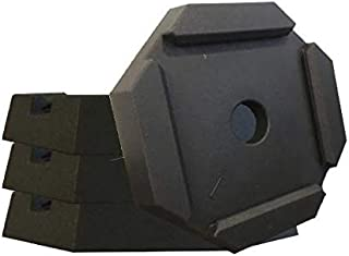 SnapPad BF Permanently Attached RV Leveling Jack Pad for Bigfoot Landing Feet (BF 7 4-Pack)