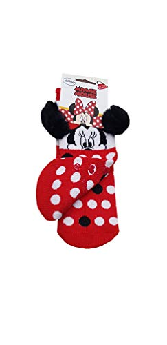 Suncity Calcetines antideslizantes rojos de Minnie Mouse 27/30