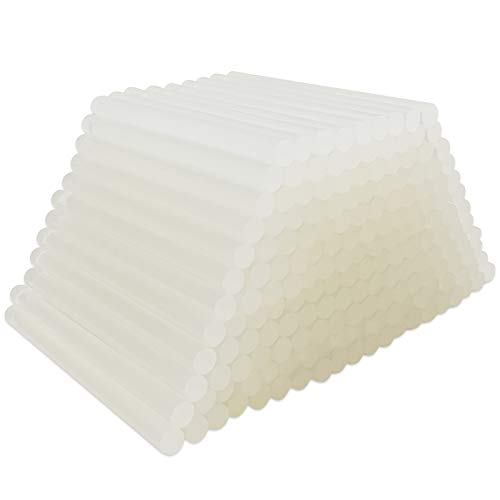FANGZI 100 Stück Durchsichtig Heißklebestifte 100 x 7 mm Klebestifte für DIY Handwerk - Transparent