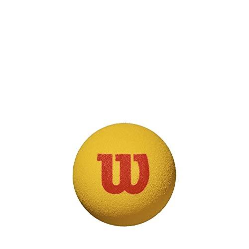 Wilson Starter Foam Pelotas de tenis, pack de 3, para niños, amarillo/rojo
