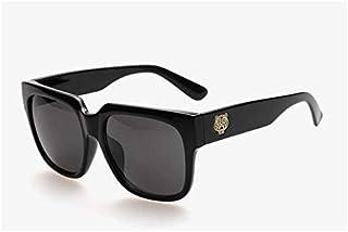 Men's big frame retro polarized sunglasses, black