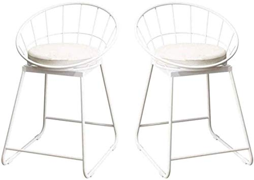 Barkrukken Set van 2 ontbijt voor hoge stoelen en kussens Achterbank Comfort Keuken Verlaagd plafond Kruk met rugleuning Eetstoelen voor pubs Industriële metalen poten Barkrukken Modern Eenvoudig