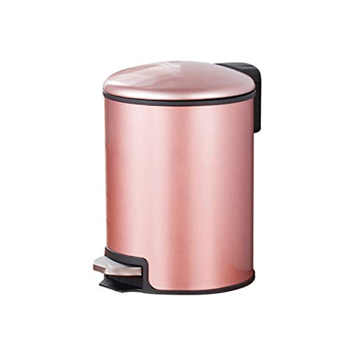Cubo de Basura Pedal de acero inoxidable Tipo de Pedal Tipo de basura doméstico con cubierta Creative Moda Cocina Cuarto de baño...