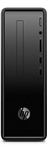 HP Slimline Desktop 290-a0022ns - PC desktop (APU AMD Dual-Core A4-9125, 4 GB RAM, 256 GB SSD, AMD Radeon R3) nero intenso