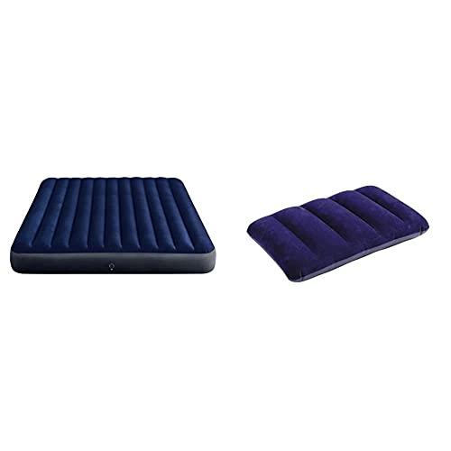 Intex 64755 Materasso Classic Downy King 183X203X25 cm con Tecnologia Fiber Tech & 68672, Cuscino...