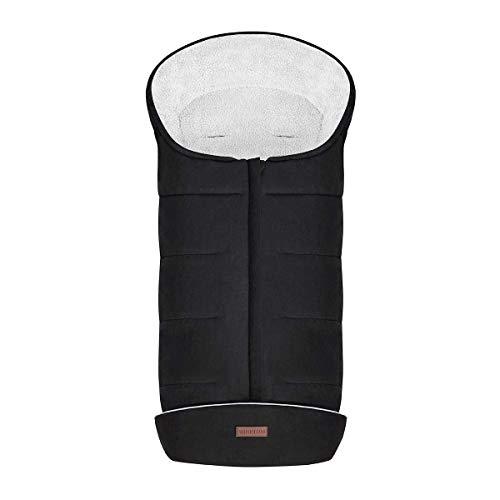 Minetom Universeller Fußsack für Kinderwagen Winterfußsack Anti-Rutschschutz Design mit warmes und weiches Fleece, Reflektorstreifen, Aufbewahrungstasche | Fußsack für Sportwagen & Buggy